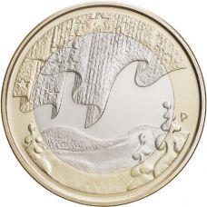 Suomi 2012 5 € Pohjolan luonto Talvi UNC